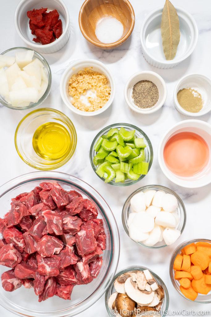 Keto Beef Stew Ingredients