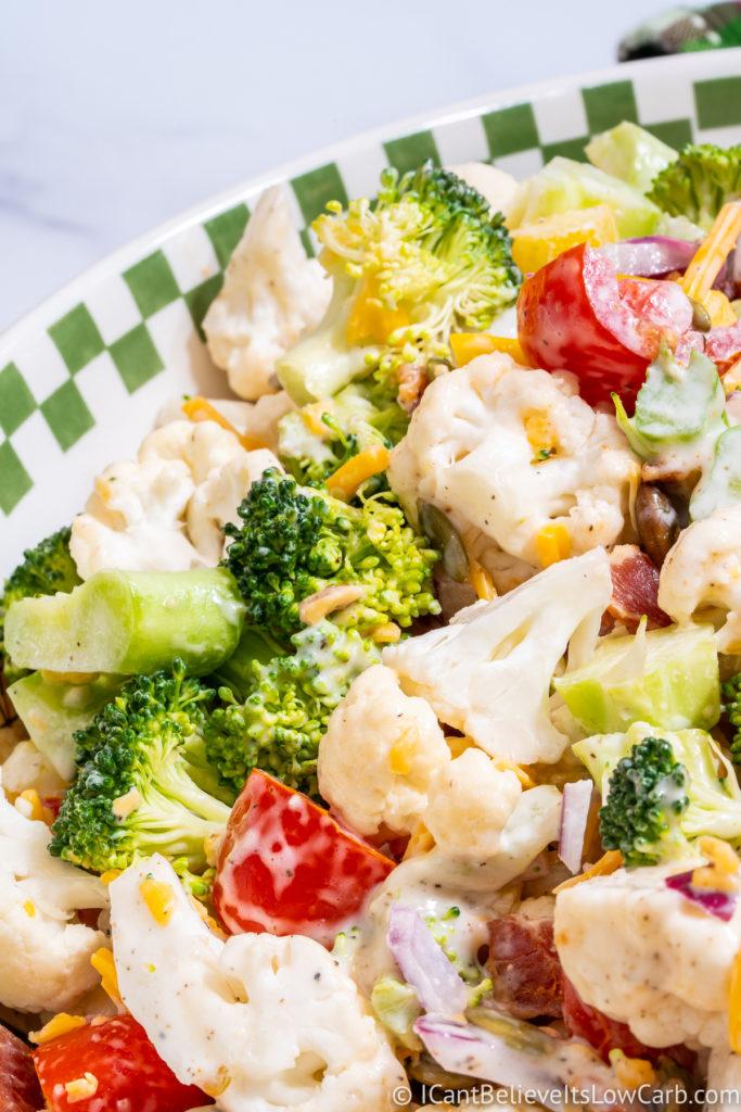 Best Broccoli Cauliflower Salad