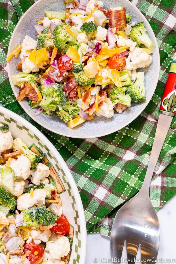 Best Broccoli Cauliflower Salad Recipe