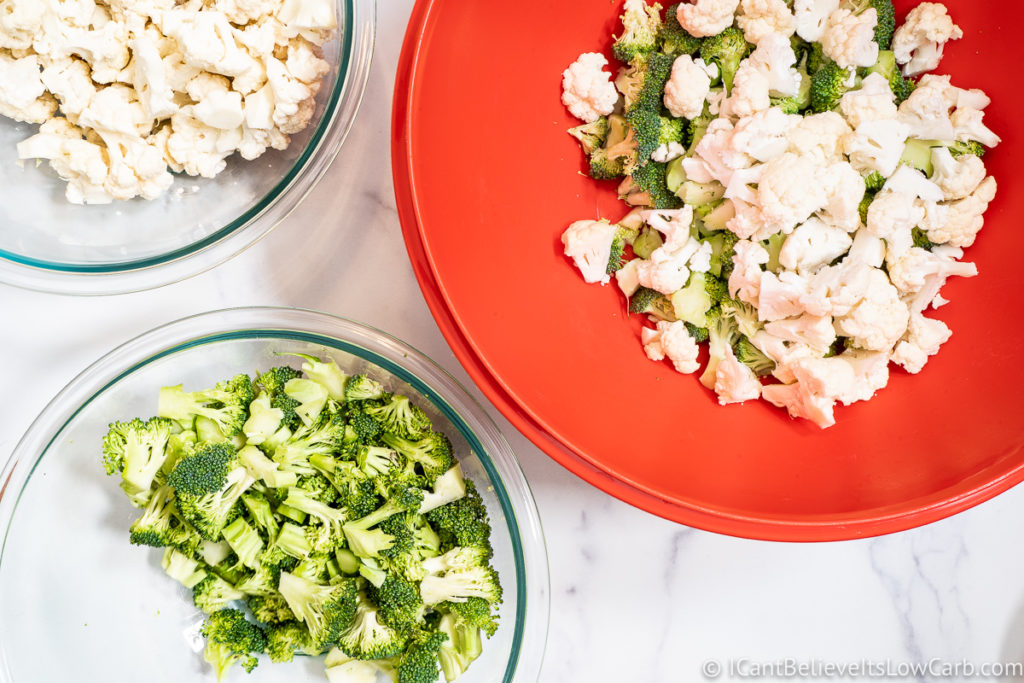 Broccoli and Cauliflower in a bowl