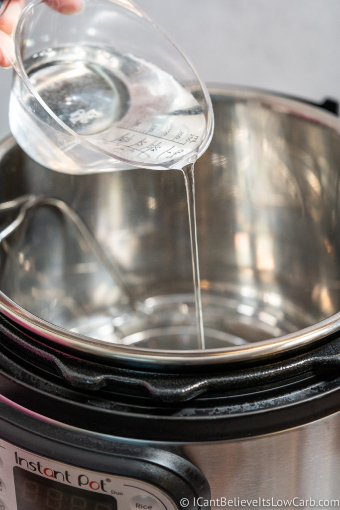 adding water to the instant pot