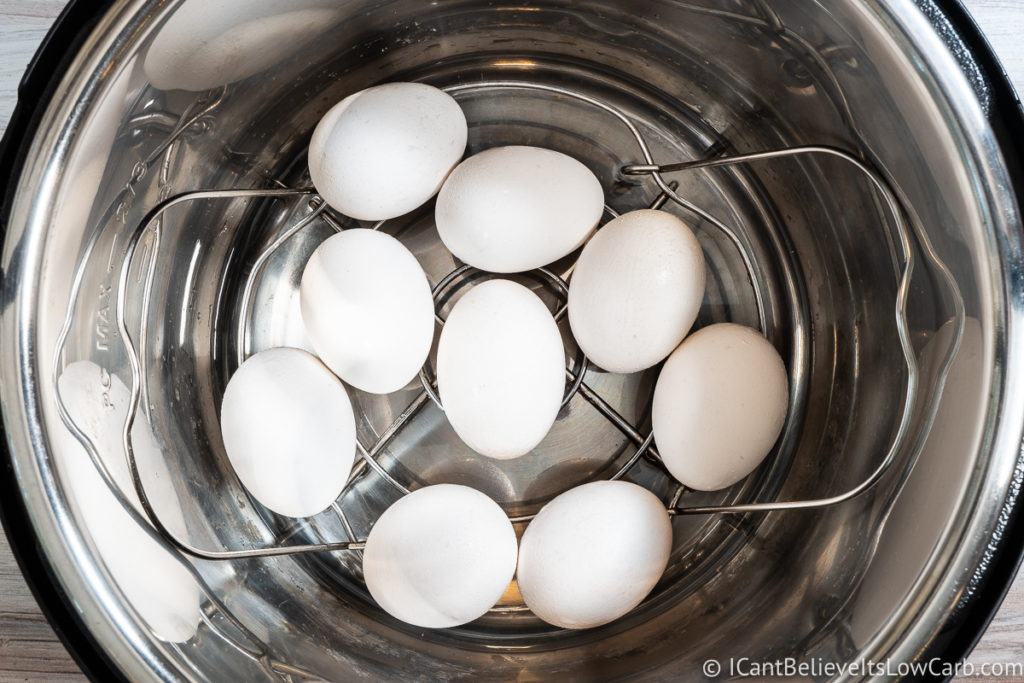 Adding eggs to the Instant Pot