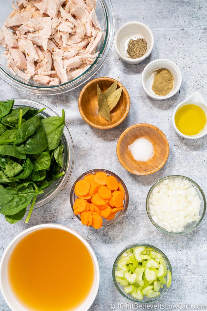 Keto Chicken Soup Ingredients