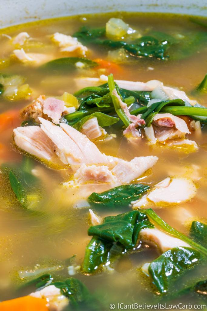 A Pot of Keto Chicken Soup