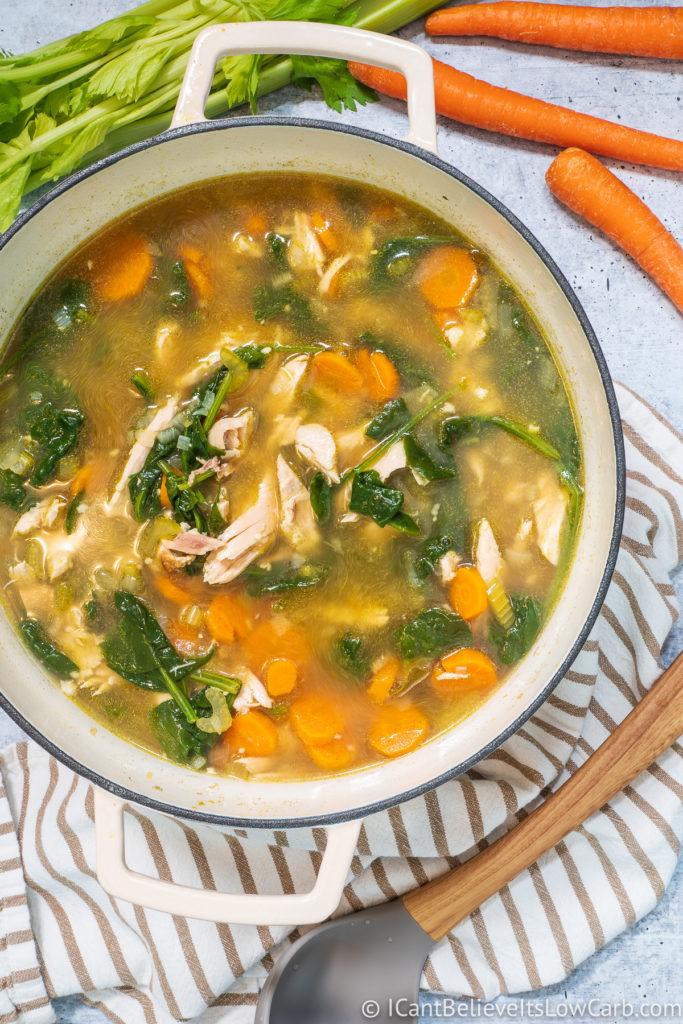 Easy Keto Chicken Soup