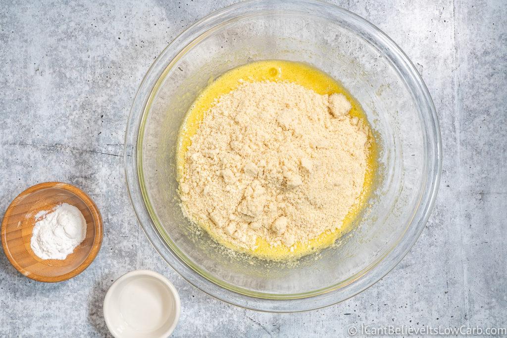 Adding Almond Flour to the Bowl