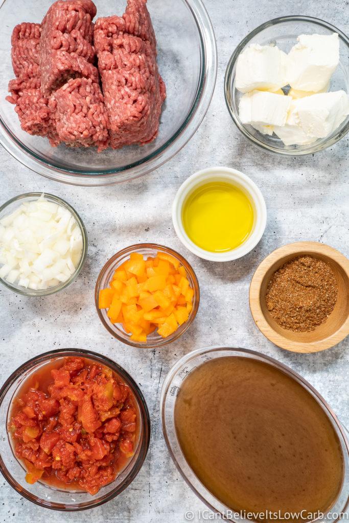 Keto Taco Soup Ingredients