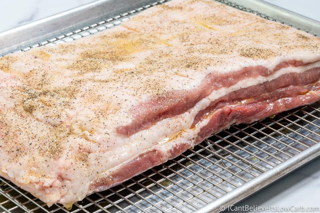 Pork Belly covered in seasonings