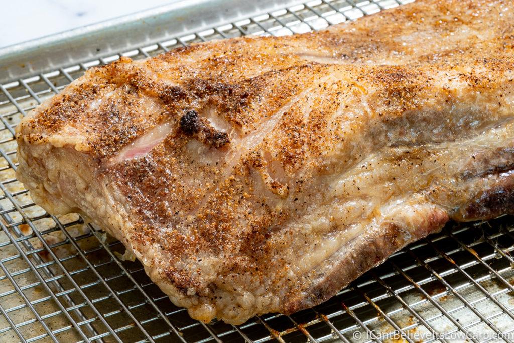 Crispy Pork Belly after cooking