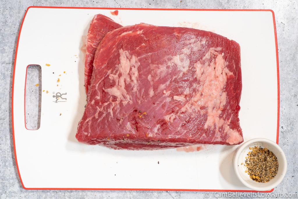 Putting Seasonings on Corned Beef