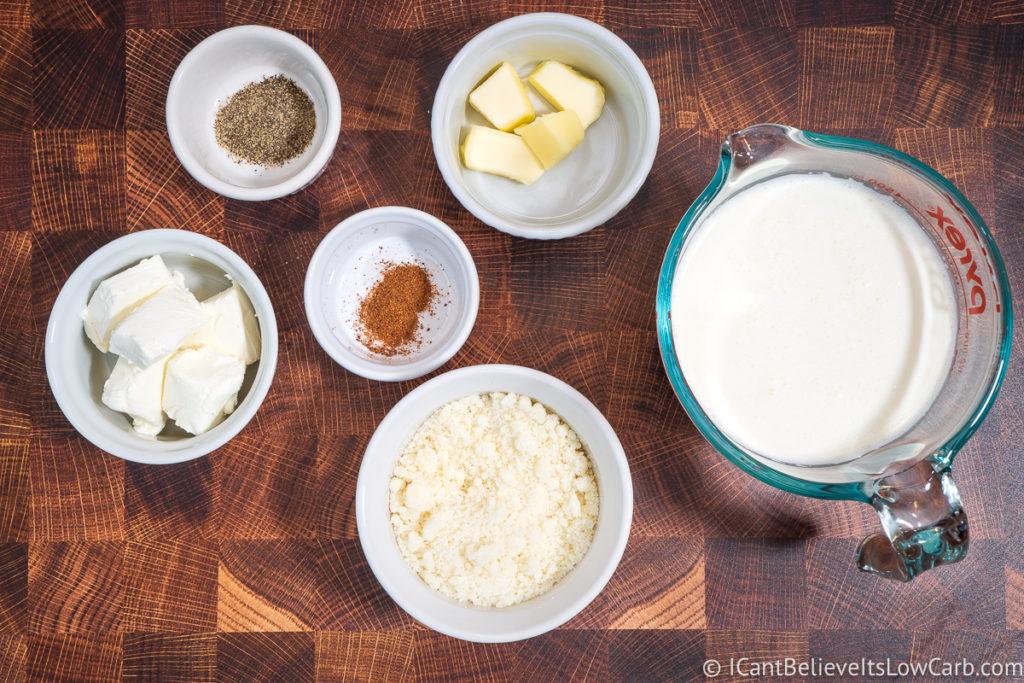 Keto Alfredo Sauce Ingredients